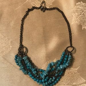 Turquoise and Bronze Collar